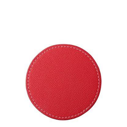 Εικόνα της COASTER (LEATHER) ROUND 9.5cm - RED