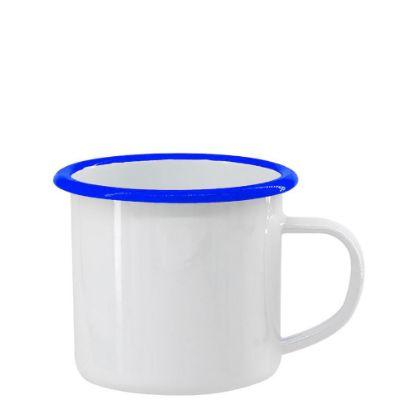 Picture of ENAMEL MUG 12oz WHITE + BLUE rim