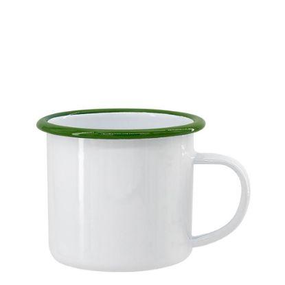 Picture of ENAMEL MUG 12oz WHITE + GREEN rim