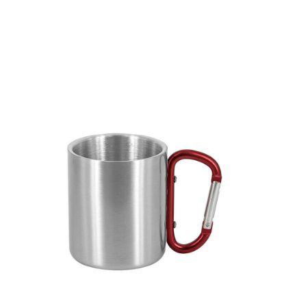Εικόνα της Stainless Steel Mug 8oz - SILVER with Red Handle