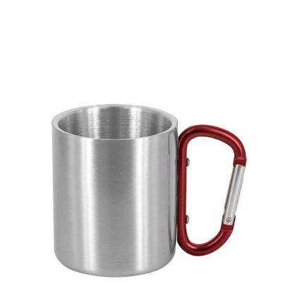 Εικόνα της Stainless Steel Mug 11oz - SILVER with Red Handle