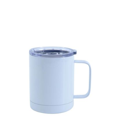 Εικόνα της Stainless Steel Mug 10oz - WHITE with Handle