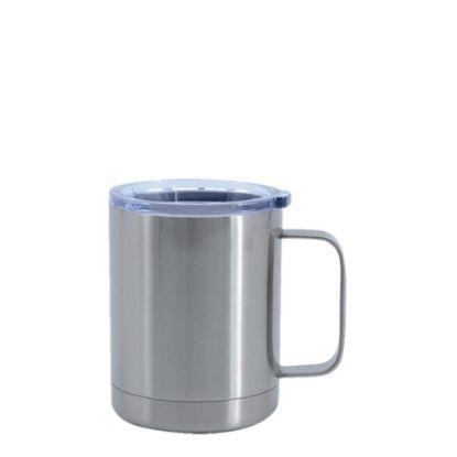 Εικόνα της Stainless Steel Mug 10oz - SILVER with Handle