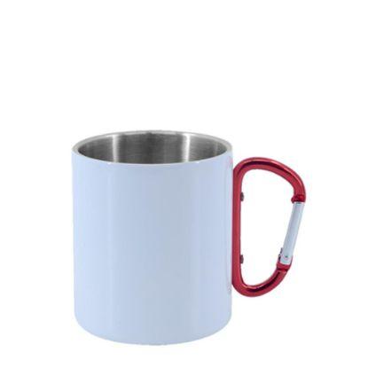 Εικόνα της Stainless Steel Mug 11oz - WHITE with Red Handle