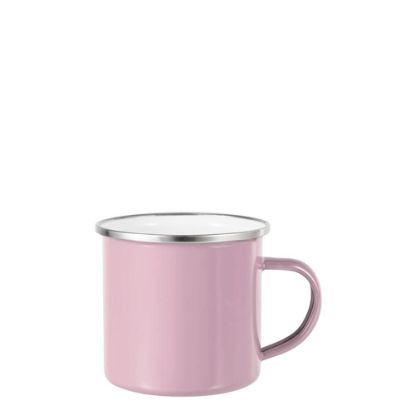 Picture of Enamel Mug  6oz. PINK with Silver Rim