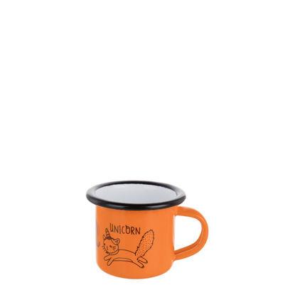 Picture of Enamel Mug  3oz. ORANGE with Black Rim
