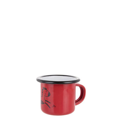Picture of Enamel Mug  3oz. RED with Black Rim