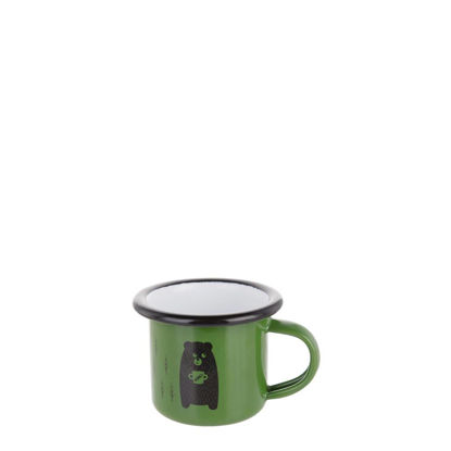 Picture of Enamel Mug  3oz. GREEN with Black Rim