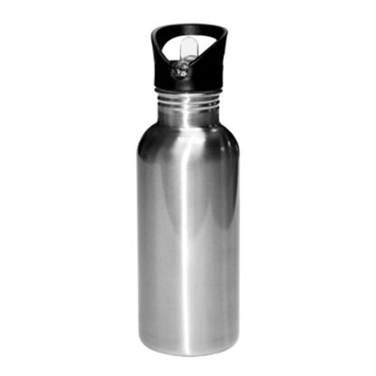 Picture of WATER BOTT. - STAINLESS (SILVER) 600ml-straw