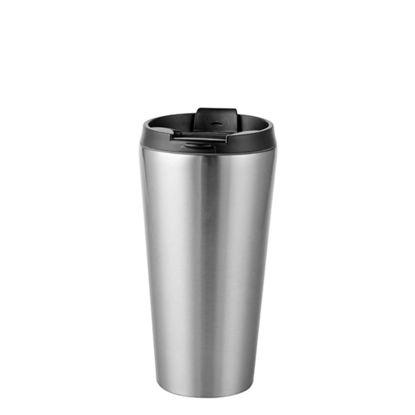 Εικόνα της Tumbler 16oz - SILVER with Black Cup