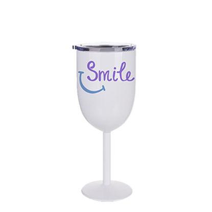 Εικόνα της Stainless Steel Wine Glass 12oz - WHITE