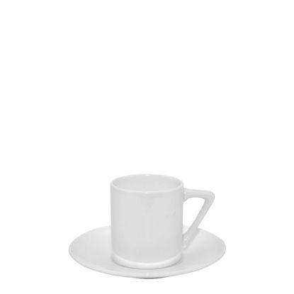Εικόνα της MUG WHITE/GLOSS -  3.6oz (Coffee Set)triangle