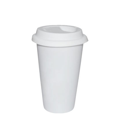 Picture of TUMBLER - COFFE MUG 12oz - PLASTIC frosted