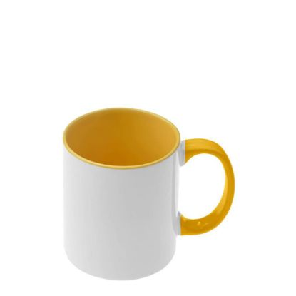 Picture of MUG 11oz - INNER & HANDLE - YELLOW GOLD