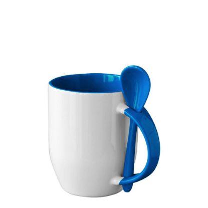 Εικόνα της MUG 12oz INNER+HANDLE (SPOON) BLUE CAMBRIDGE