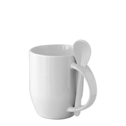 Εικόνα της MUG 12oz INNER+HANDLE (SPOON) WHITE