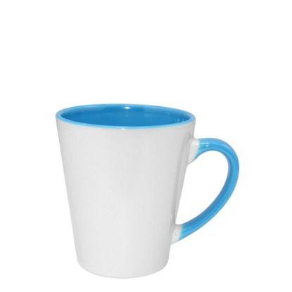 Εικόνα της MUG 12oz - INNER & HANDLE/Latte - BLUE LIGHT
