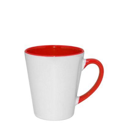 Εικόνα της MUG 12oz - INNER & HANDLE/Latte - RED