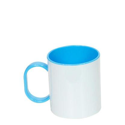 Εικόνα της MUG 11oz (PLASTIC) INNER+HAND.- BLUE