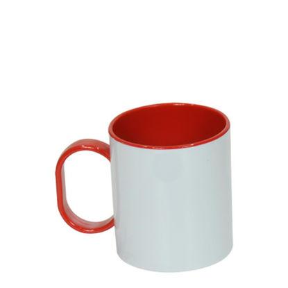 Εικόνα της MUG 11oz (PLASTIC) INNER+HAND.- RED