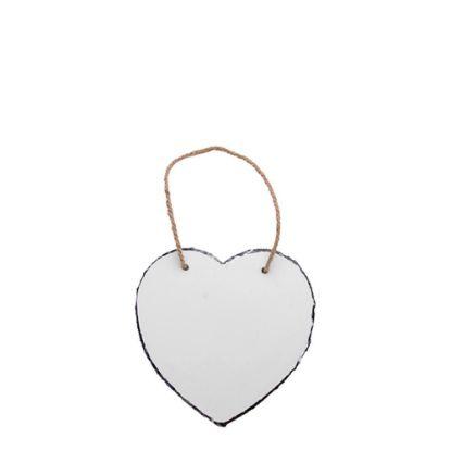 Εικόνα της SLATE GLOSS (HANGING) HEART 20x20cm