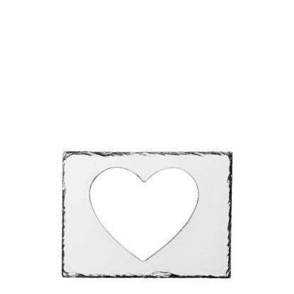 Εικόνα της PHOTO SLATE (FRAME) Heart 19x25cm