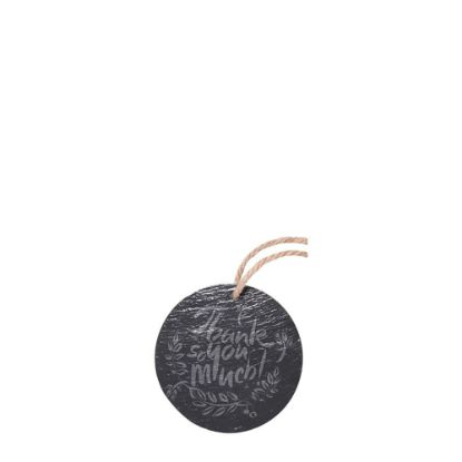 Picture of SLATE for ENGRAVING (ROUND) hanging dia.10.16