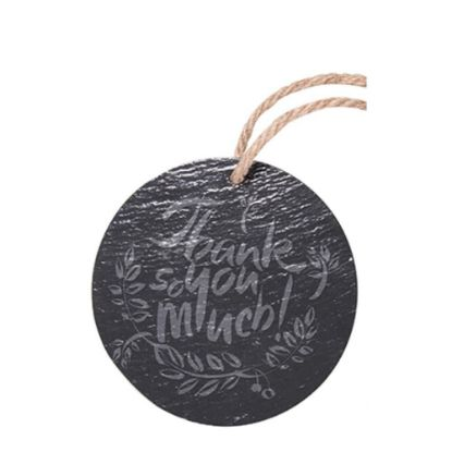 Picture of SLATE for ENGRAVING (ROUND) hanging dia.20