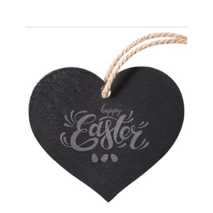 Picture of SLATE for ENGRAVING (HEART) hanging 25x25