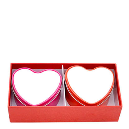 Picture of METAL TIN(CANDLE) 8x7x4.2cm-HEART set of 2