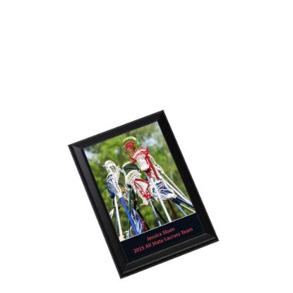 Picture of PLAQUE REC.-GLOSS WH./BLACK ED.- 14.92x20