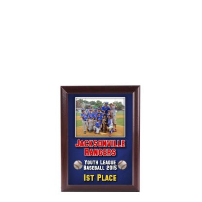 Picture of PLAQUE REC.-GLOSS WH./CHERRY ED.-14.92x20