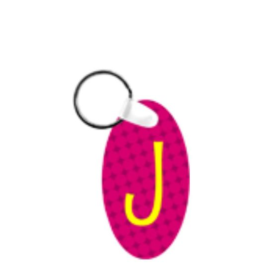 Picture of KEY-RINGS (Aluminum 2-sided) GLOSS OVAL - 3.493x6.35