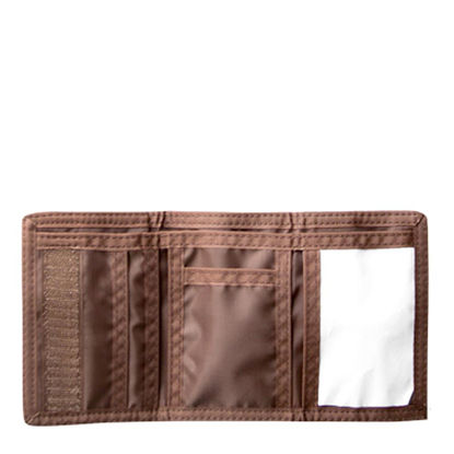 Picture of WALLET - NYLON (12x8cm) BROWN