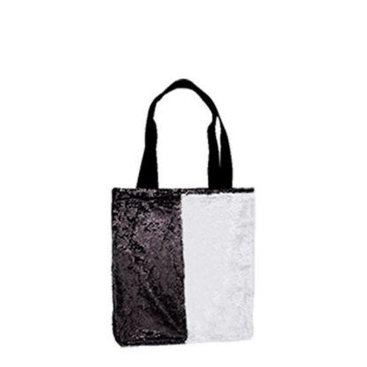 Εικόνα της BAG Sequin+Linen  2-LAYERS (BLACK) 35x38cm