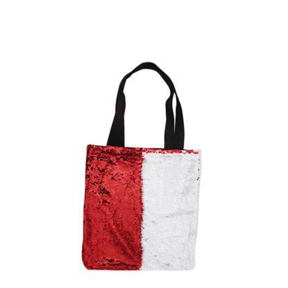 Εικόνα της BAG Sequin+Linen  2-LAYERS (RED) 35x38cm