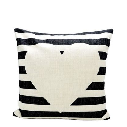 Picture of PILLOW - COVER (LINEN black & white) 40x40cm