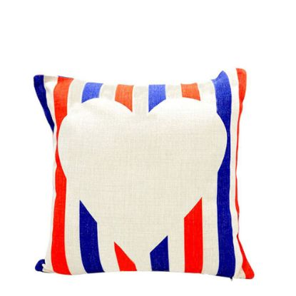 Picture of PILLOW - COVER (LINEN red & blue) 40x40cm