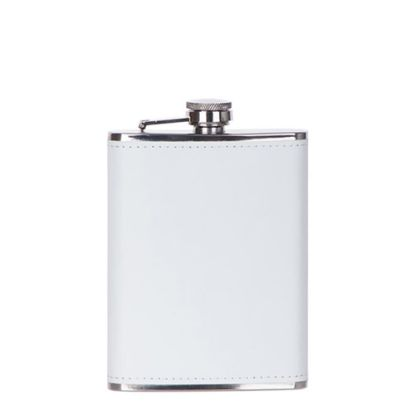 Picture of Flask 8oz PU (White)