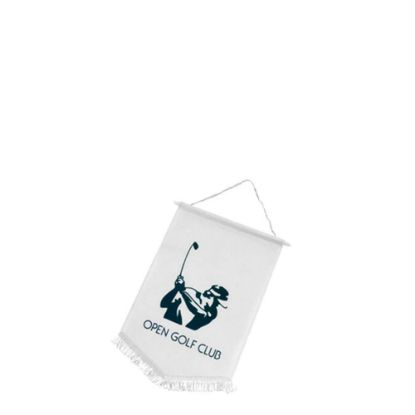 Picture of FLAG POLYESTER (18x15cm) WHITE