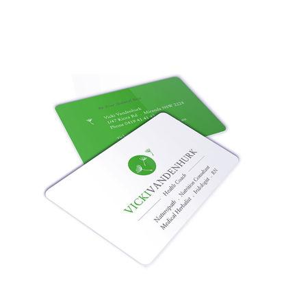 Εικόνα της PLASTIC (THIN matt) NAME CARD 8.5x5.4 cm