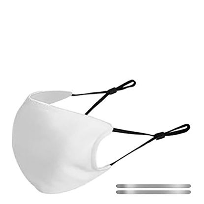 Picture of Face Mask ADULTS White/White (non medical) 13x18.5cm