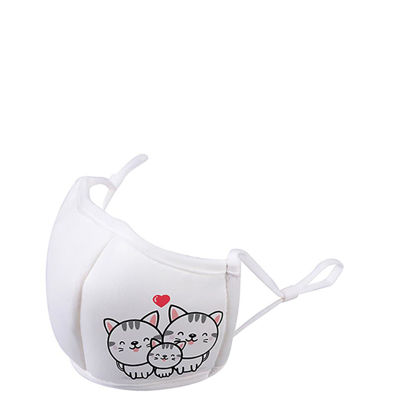 Picture of Face Mask ADULTS 3D White/White (non medical) 13.5x20.5cm