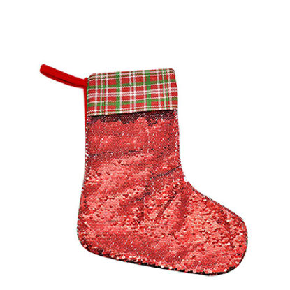 Picture of XMAS - STOCKING (SEQUIN red) 40x26cm