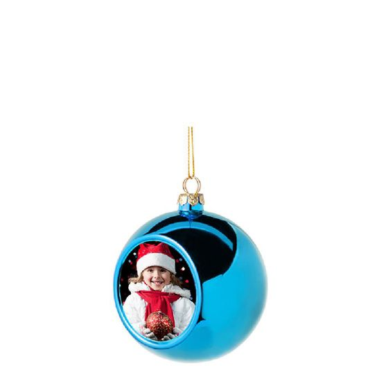 Picture of XMAS - BALL 8cm/BLUE