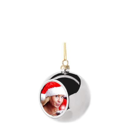 Picture of XMAS - BALL 8cm/SILVER
