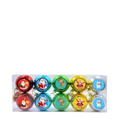 Picture of XMAS BALL - ASSORTED COLORS (10pcs) Diam. 8cm