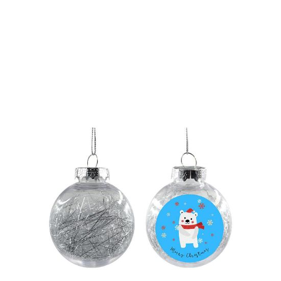 Picture of XMAS BALL - CLEAR/SILVER- Diam. 6cm