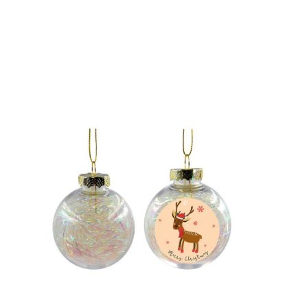 Picture of XMAS BALL - CLEAR/WHITE- Diam. 6cm