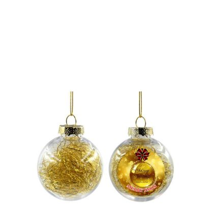 Picture of XMAS BALL - CLEAR/GOLD- Diam. 6cm